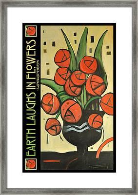 Roses In Vase Poster Framed Print by Tim Nyberg