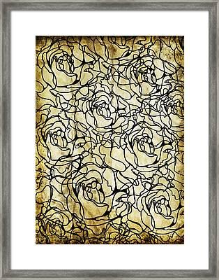 Roses Pattern Framed Print by Setsiri Silapasuwanchai