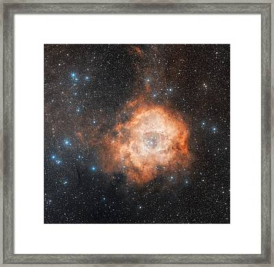 Rosette Nebula (ngc 2237) Framed Print by Davide De Martin