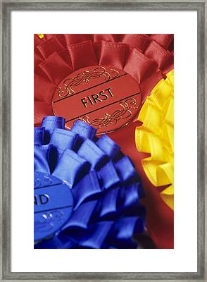 Rosettes Framed Print by David Aubrey