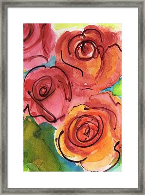 Rosettes Framed Print by Judy  Rogan