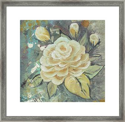 Framed Print featuring the painting Rosey by Kathy Sheeran