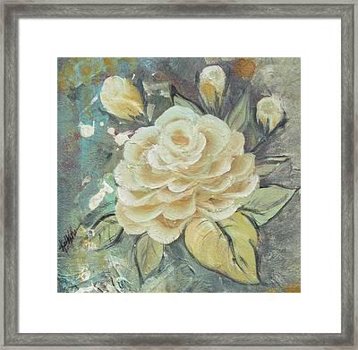Rosey Framed Print by Kathy Sheeran