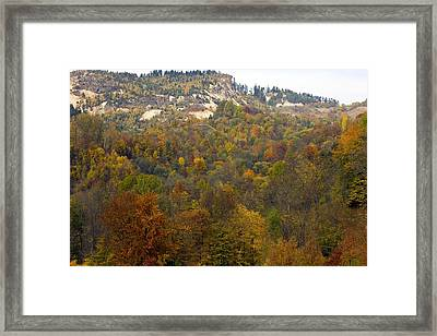 Rosia Montana Gold Mine In Romania Framed Print by Bob Gibbons