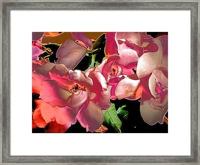 Rosie Abstract Framed Print by Beth Akerman
