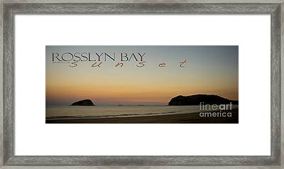 Framed Print featuring the photograph Rosslyn Bay Sunset by Vicki Ferrari