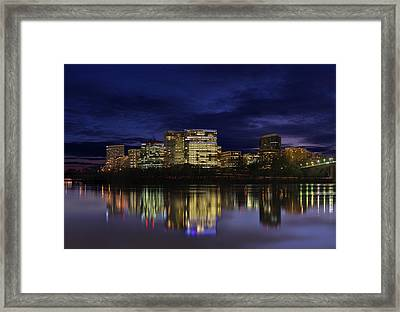 Rosslyn Skyline Framed Print by Metro DC Photography