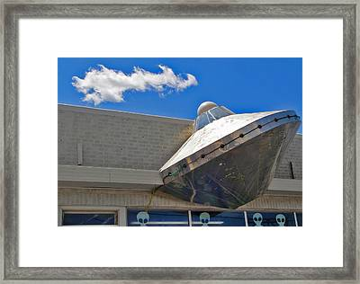 Roswell Alien Spacecraft Framed Print by Gregory Dyer