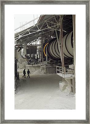Rotary Kiln For Lime Burning Framed Print by Dirk Wiersma