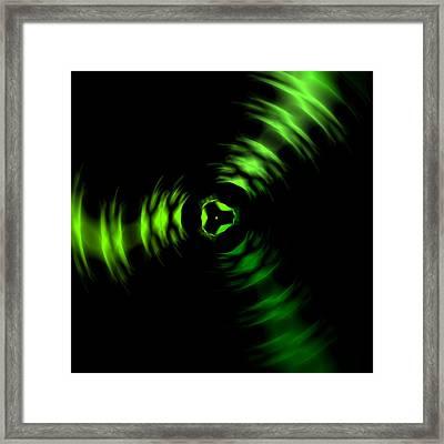 Rotation Green Framed Print by Steve K