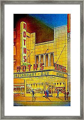 Roth's Restaurant In New York City In 1939 Framed Print by Dwight Goss