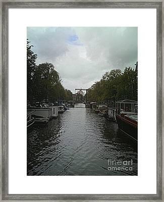 Rotterdam Canal Framed Print by Jennifer Sabir