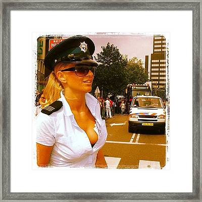 #rotterdam #dutch #police #politie Framed Print