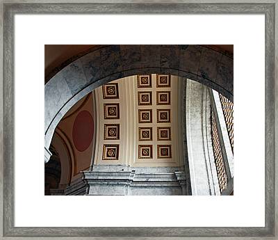 Rotunda Arches Framed Print