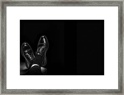 Framed Print featuring the photograph Rough Day by Tom Gort
