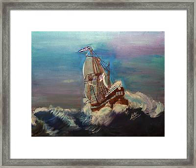 Framed Print featuring the painting Rough Seas by Swabby Soileau