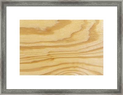 Rough Textured Plywood Grain Framed Print