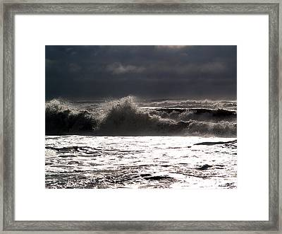 Rough Waves 2 Framed Print