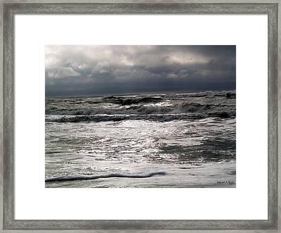 Rough Waves 3 Framed Print by Deborah Hughes
