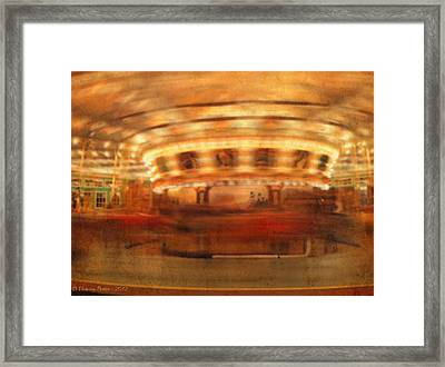Round And Round Goes The Dentzel Carousel At Glen Echo Park Md Framed Print