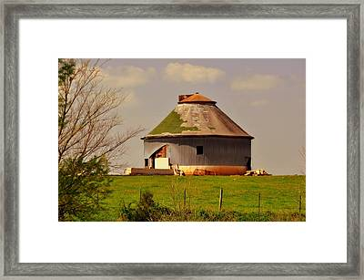 Round Barn Framed Print by Marty Koch