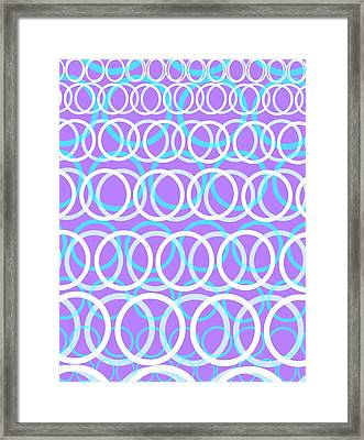 Round Cirlces Framed Print by Louisa Knight