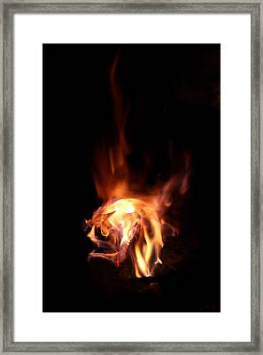 Round Heat Framed Print by Adam Long
