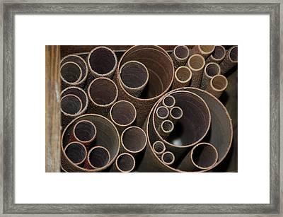 Round Sandpaper Framed Print by Randy J Heath