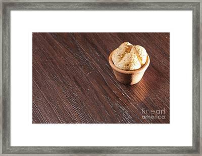 Round Sandwich Bun Framed Print by Chavalit Kamolthamanon