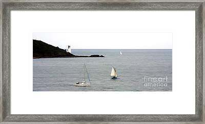 Round The Headland Framed Print by Ron Telford
