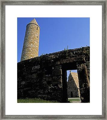 Round Tower And Chapel, Ulster History Framed Print
