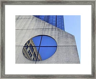 Round Window Reflection Framed Print by Richard Gregurich