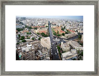 Roundabout Dj Science College Framed Print by Rashid