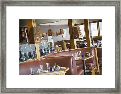 Rounded Restaurant Booths Framed Print by Andersen Ross