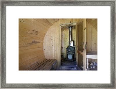 Rounded Sauna Interior Framed Print