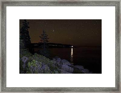 Framed Print featuring the photograph Rounding Otter Point by Brent L Ander
