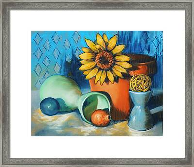 Rounds About Framed Print by Peggy Wrobleski