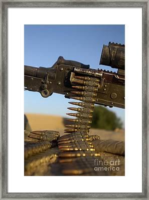 Rounds Of A M240 Machine Gun Framed Print by Stocktrek Images