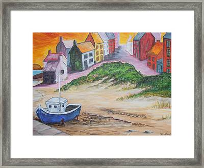 Roundstone Harbour  Framed Print by Siobhan Lawson