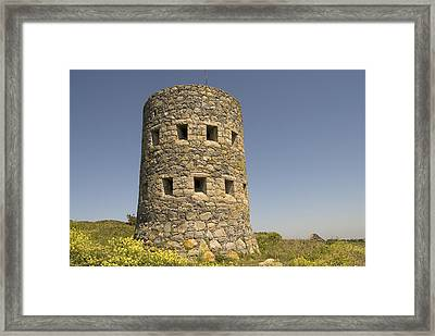 Rousse Tower -napoleonic Fortified Tower  - Isle Of Guenrsey Framed Print by Urft Valley Art