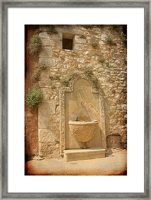 Roussillon Fountain Framed Print by Carla Parris