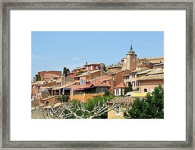 Roussillon In Provence Framed Print by Carla Parris