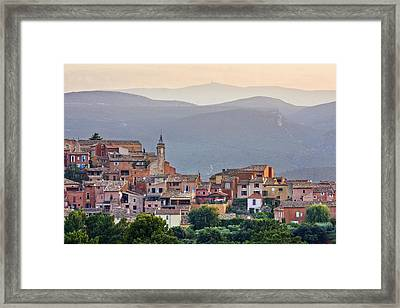 Roussillon, Luberon, Provence, France Framed Print by Guy Edwardes