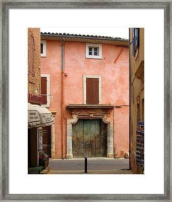 Roussillon Painted Door Framed Print by Carla Parris