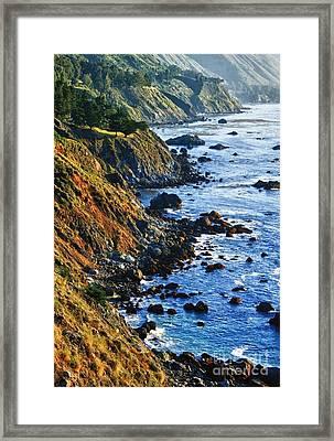 Route 1 Coastline Framed Print
