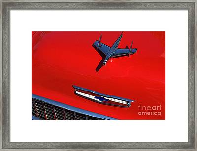 Route 66 Classic Cars 1 Framed Print by Bob Christopher