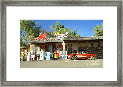 Route 66 Hackberry Arizona Framed Print by Bob Christopher