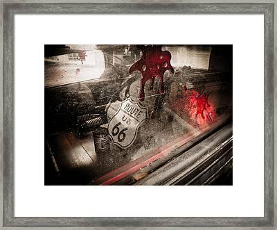 Route 66 Framed Print by Jessica Brawley