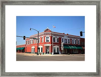 Route 66 - Sayre Oklahoma Framed Print by Frank Romeo