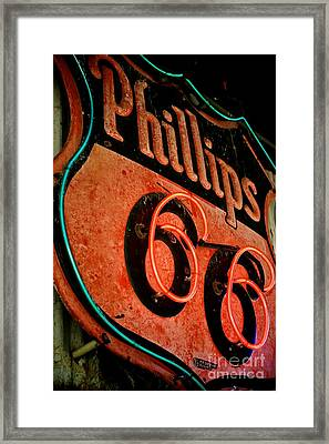 Route 66 Sign Framed Print